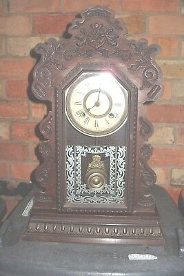 mantel  clock ANSONIA STRIKING CLOCK   GINGER BREAD MAN CLOCK