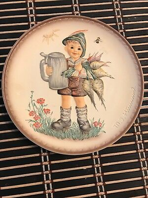 """MJ Hummel Goebel Germany 2nd Ed-Series of 4 Friends Forever Plates """"For Father"""""""