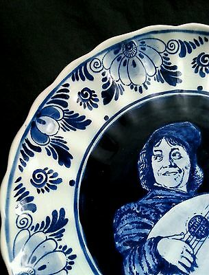 Vintage Jumbo Delfts Holland hand painted ceramic blue plate