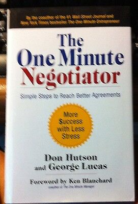 The One Minute Negotiator Don Hutson and George Lucas Signed Copy NEW Hardcover