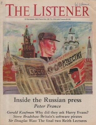 THE LISTENER (15 December 1983) THE RUSSIAN PRESS - REITH LECTURE - DOUGLAS WASS