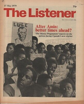 THE LISTENER (17 May 1979) UGANDA AFTER AMIN - GEORGI VINS - CHARLIE PARKER