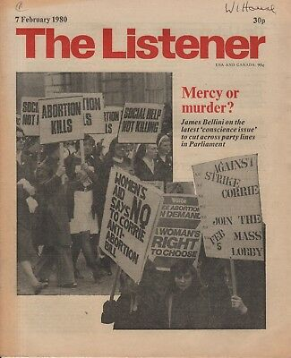 THE LISTENER (7 February 1980) ABORTION - LORD SCARMAN INTERVIEWS ARCHIBALD COX