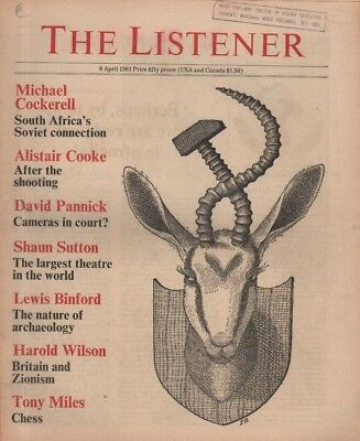 THE LISTENER (9 April 1981) ROBERT KEE PROFILED - ALISTAIR COOKE - LEWIS BINFORD