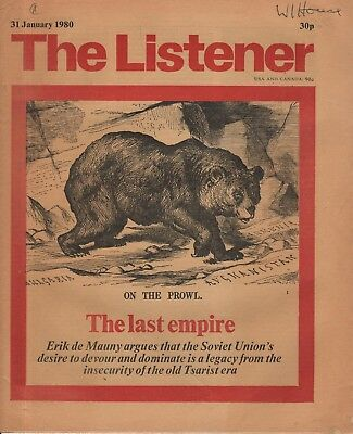 THE LISTENER (31 January 1980) RUSIA'S  IMPERIALISM - CHUCK BERRY - GEORGE MELLY