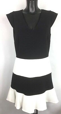 Moschino Boutique Black And White Striped Dress Bnwt Size 12