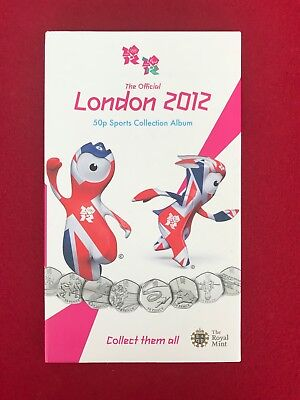 London 2012 Sports Collection Album with 29 Coins and Completer Medallion