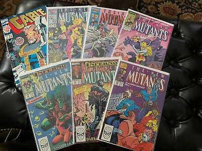New Mutants Lot Of 7 ! W/ Cable # 1 Foil ! High Grade Marvel !