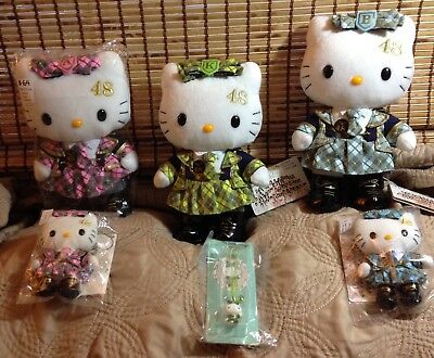 """🎄UNBELIEVABLE Hello Kitty AKB 48 10""""  Plush Set with 3 FREE GIFTS🎄"""