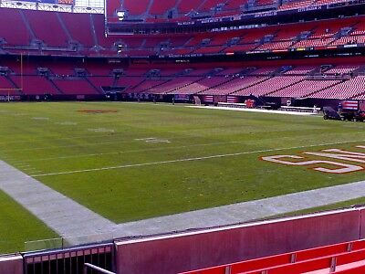 4 Tickets Cleveland Browns VS Carolina Panthers Lowers 117 ROW 5