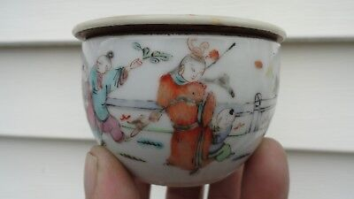 antique box cricket cencer chinese porcelain old hand painted 3 1/4 x 2 in vase