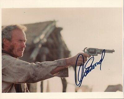 Clint Eastwood. Signed 10x8 inch color photo from Unforgiven. Dirty Harry.