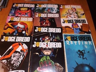 Judge Dredd  Megazine Comics (X10)