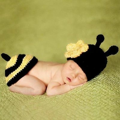 Newborn Baby Boys Girls Hat Crochet Knit Costume Photo Photography Prop Outfit j
