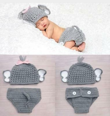 Newborn Baby Boys Girls Hat Crochet Knit Costume Photo Photography Prop Outfit S