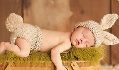 Newborn Baby Boys Girls Hat Crochet Knit Costume Photo Photography Prop Outfit F