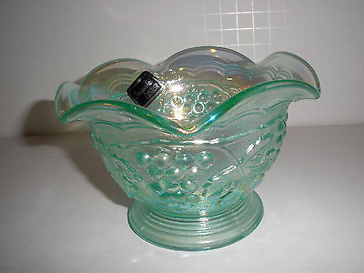 A BEAUTY Vintage Minty Green Iridescent Small Bowl Grapes Imperial by Lenox