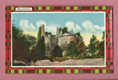1926 Postcard - Dirleton Castle, North Berwick - Macintosh Tartan
