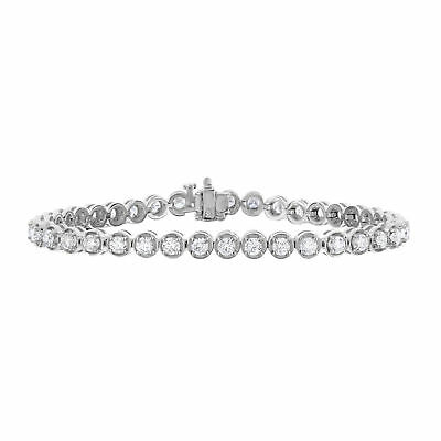 5 cttw Classic Tennis Diamond Bracelet In 14K White Gold