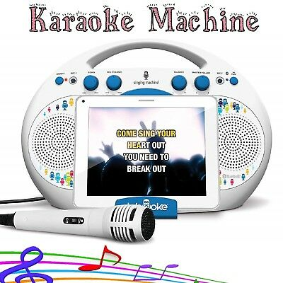 Singing Machine Music Maker Child Bluetooth Audio Streaming Home Karaoke System