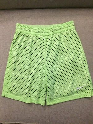 Nike Dri-Fit Boys Athletic Shorts Neon Green Size Large