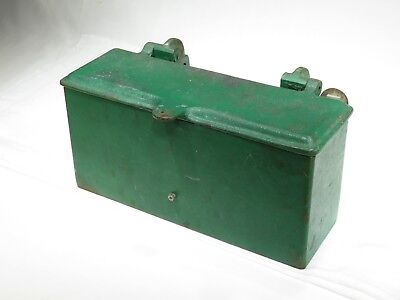 Vintage John Deere? Cast Iron Tool Box W/ Lid Tractor Implement Case IH