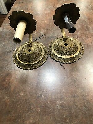 brass ornate wall sconce light Fixtures Architectural Salvage
