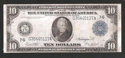 Chicago Type A 1914 $10 Federal Reserve Note No Reserve Auction