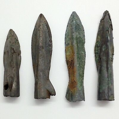 Bronze arrowhead Cimmerian  Scythian  4pc. 2000-1000BC. Rare