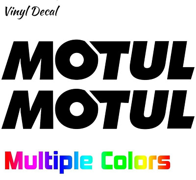 MOTUL Sticker Decal Lubricants Oil 2x Pair, many options Car Truck Vinyl Decal