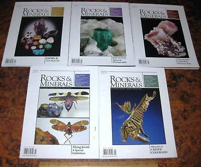 5 Issues ROCKS & MINERALS MAGAZINES Vol 85 2010 Mineralogy Lapidary Crystals Gem