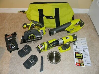 *NEW* Ryobi 18-Volt ONE+ 4 Piece Cordless Super Combo Kit Free Shipping!!!