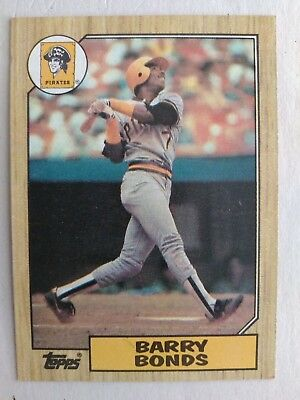 1987 Topps Baseball Pittsburgh Pirate Barry Bonds #320 Rookie Card EXNM