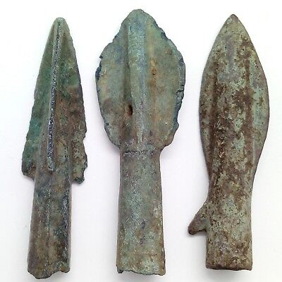 Bronze arrowhead Cimmerian  Scythian  3pc. 2000-1000BC. Rare
