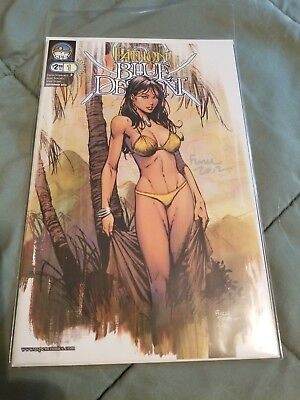 Fathom Blue Descent #1 Cover B Signed by Cover Artist David Finch