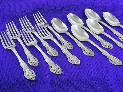 La Scala by Gorham (1964) sterling silver 6 salad forks and 6 teaspoons