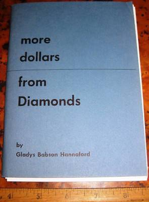 MORE DOLLARS FROM DIAMONDS by GB Hannaford Diamond Cutting Clarity Shape Color