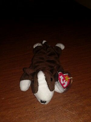 090bf44d9c6 Ty Beanie Baby Bruno The Terrier Dog 1997 Rare PVC Plush Toy FREE Shipping