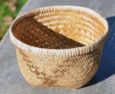 NATIVE AMERICAN INDIAN River Cane Basket - Cherokee / Choctaw