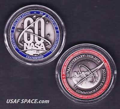 NEW NASA 60TH ANNIVERSARY Official -FLOWN METAL- Limited Edition COIN-MEDALLION