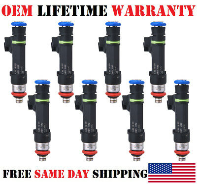 8pack OEM Bosch fuel injectors for 1997-2002 Ford E-350 Econoline Clubwagon 5.4L