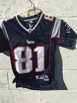 7b635eab9 Randy Moss New England Patriots  81 NFL Reebok On Field Jersey Sewn On  Small VGC