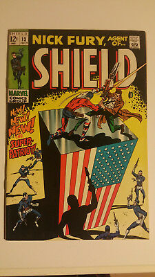 Nick Fury Agent of Shield #13 1969 the Super Patriot Stan Lee