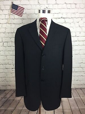 Joseph Abboud Men's Black WOOL 3 Button Blazer Suit Jacket Size 42R $795