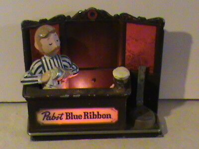 Vintage Pabst Blue Ribbon Beer Light, Display, Bartender Bottle