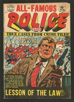 All Famous Police Cases #16, Sept. 1954