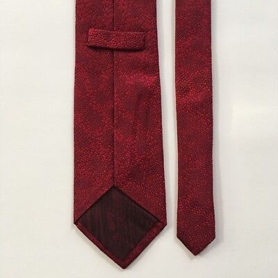 """Holland & Holland tie l 60"""" w 3.5"""" red 100% silk handmade in England pa0729"""