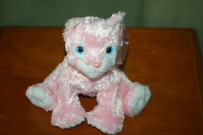 CARNATION the Pink CAT - Retired - TY Beanie Baby  -  MWMT - Silky Soft