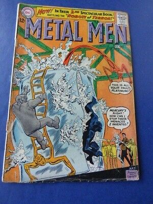 METAL MEN # 2  ROBOTS OF TERROR Silver Age DC Books  1963 Andru Art