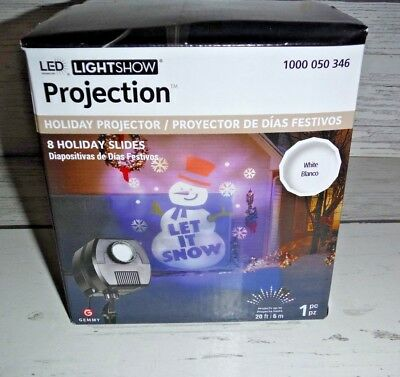 NEW GEMMY LED Lightshow Projection Outdoor Projector 8 Holiday Slides Christmas